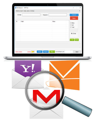 Best Tool to Extract Emails Addresses from Gmail, Hotmail, Yahoo